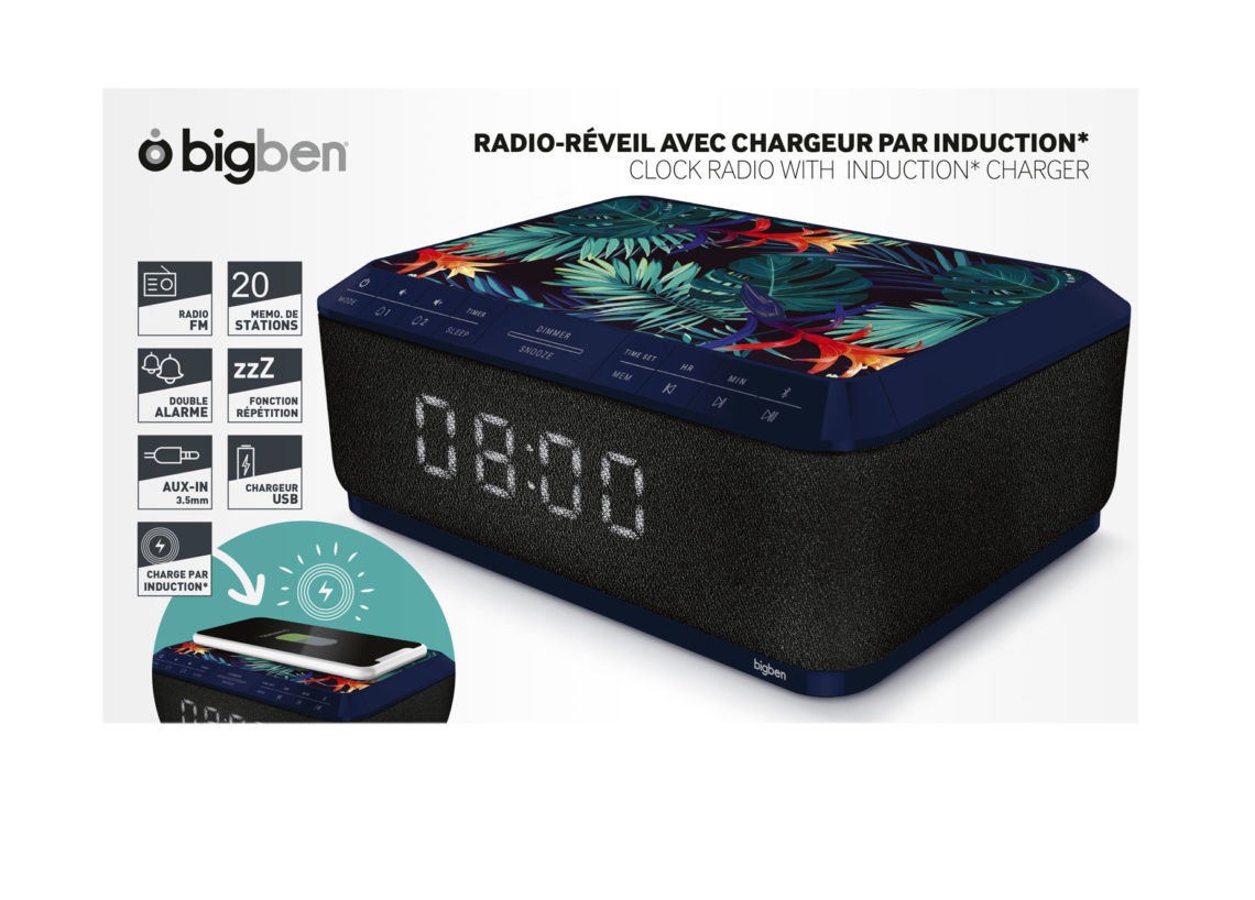 Clock radio with wireless charger RR140IJUNGLE BIGBEN - Image  #2tutu#4tutu