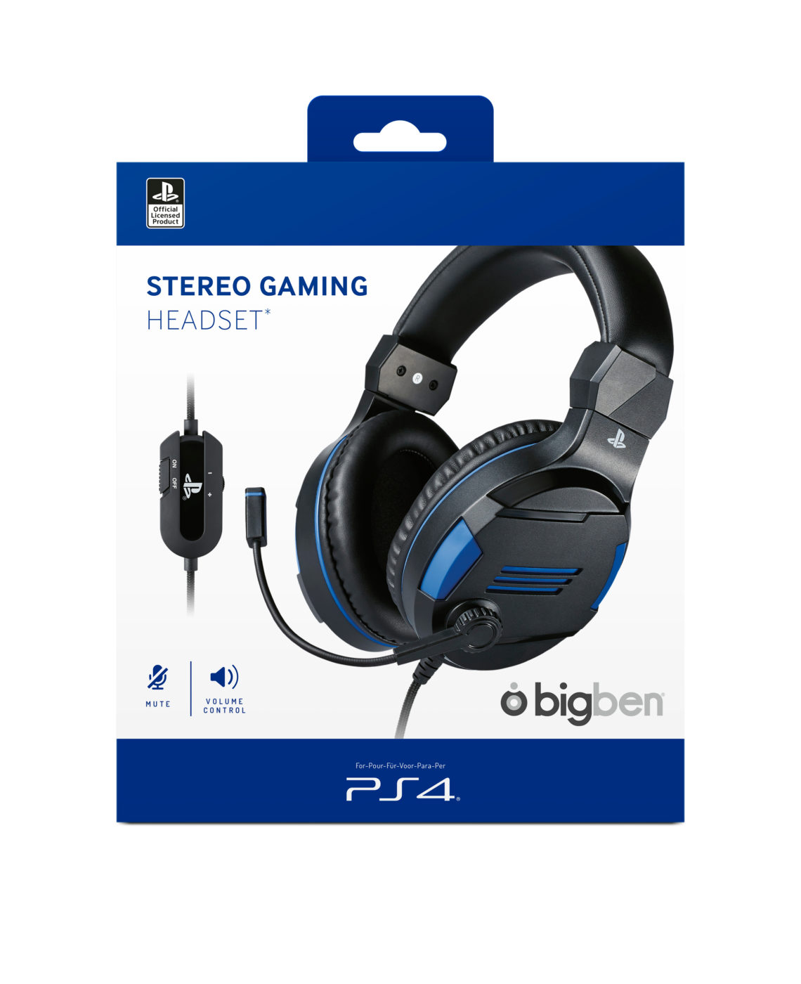 Strereo gaming headset for PS4™, PC, MAC and mobile devices