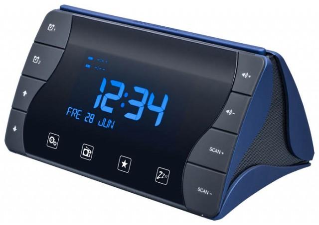 """Radio Alarm Clock """"Tetra"""" (Black and Dark Blue) - Imagen del envoltorio"""