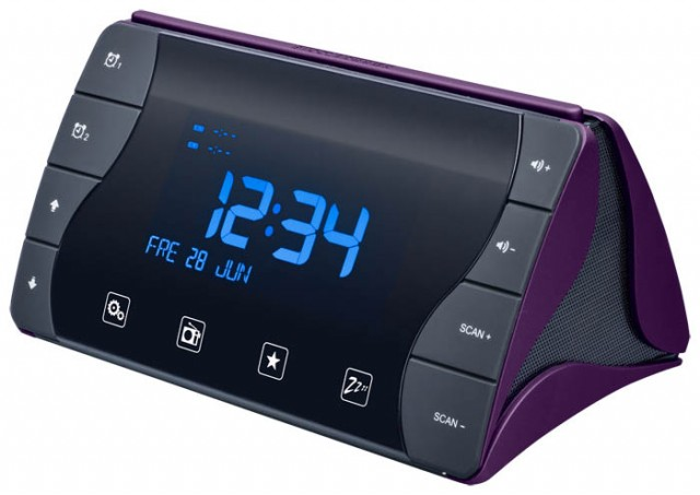 """Radio Alarm Clock """"Tetra"""" (Black and Purple) – Imagen del envoltorio"""