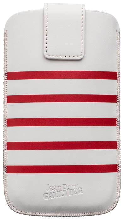 "Universal Medium Pouch ""Marinière"" Jean Paul Gaultier (white & red) - Imagen del envoltorio"