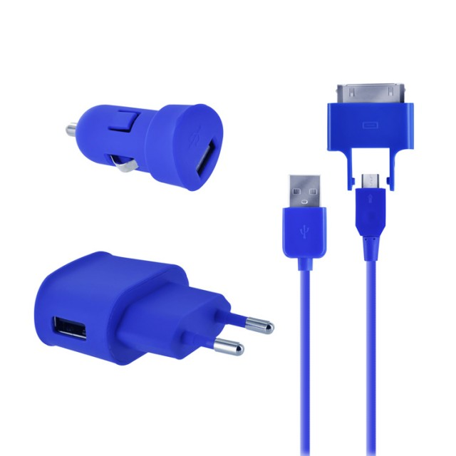 Pack micro USB de viaje (Royal Blue) - Imagen del envoltorio