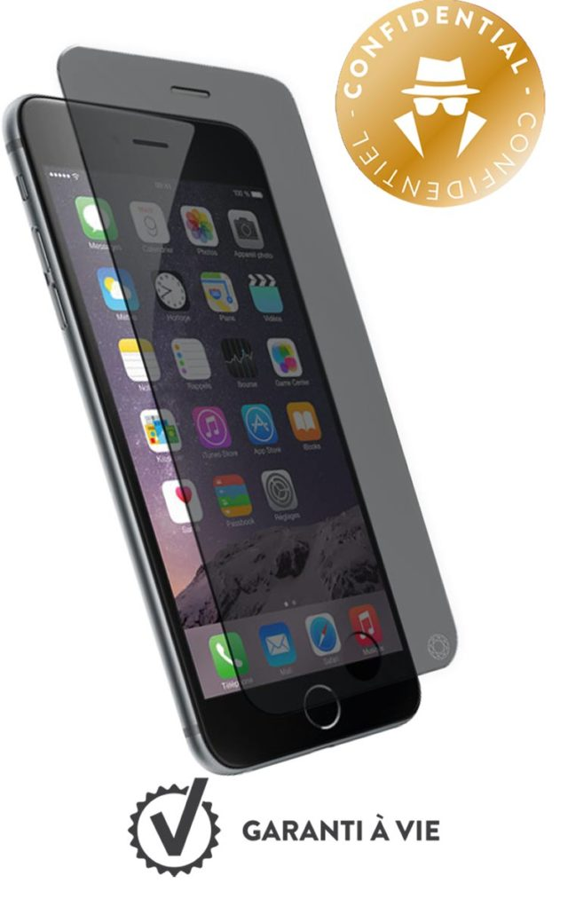 Cristal templado protector de pantalla FORCE GLASS (Confidencial) para iPhone 7 Plus - Imagen del envoltorio