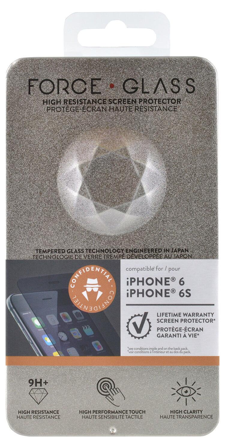 Cristal templado protector de pantalla FORCEGLASS (confidencial) iPhone 7 - Imagen