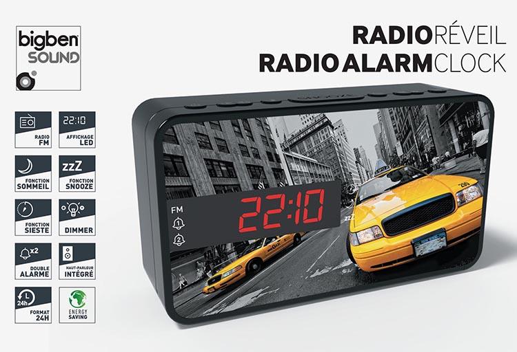 Reloj Despertador Bigben RR15 diseño taxi - Imagen