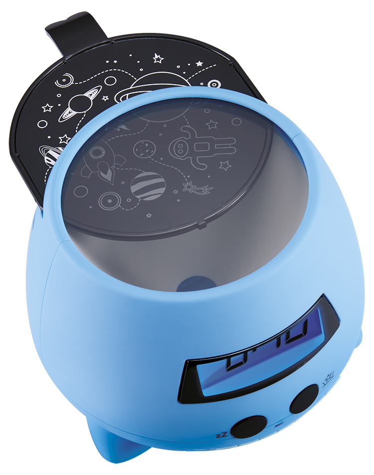 Despertador Reloj Infantil azul Bigben Kids con proyector - Imagen