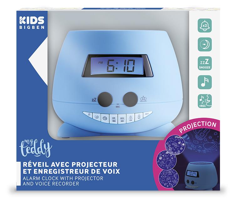 Despertador Reloj Infantil azul Bigben Kids con proyector - Imagen#2tutu#4tutu#6tutu