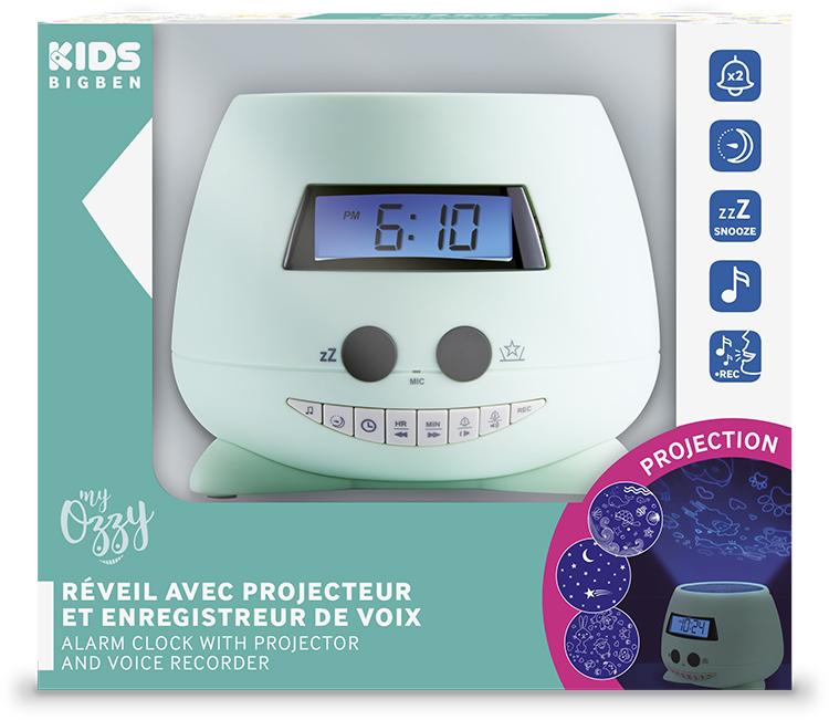 Reloj Despertador proyector verde Bigben Kids con proyector - Imagen#2tutu#4tutu#6tutu