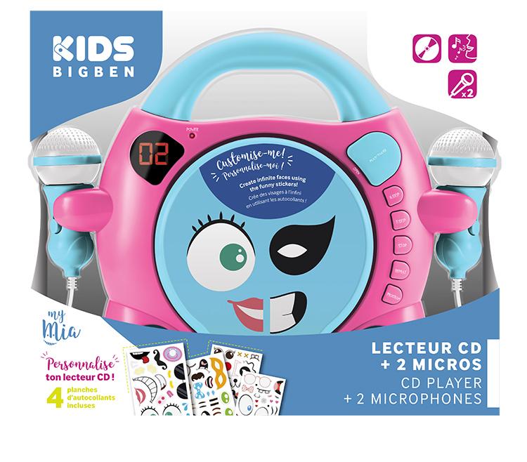 "Karaoke CD player con dos micrófonos Bigben Kids ""My Mia"" - Imagen#2tutu"