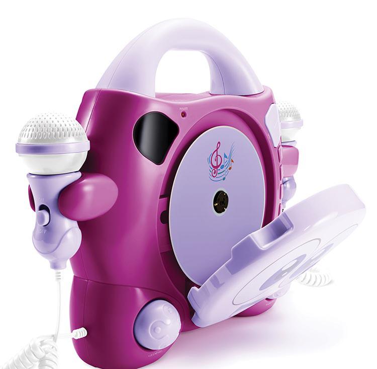 """Karaoke CD player con 2 micrófonos """"My Bubble"""" - Imagen"""