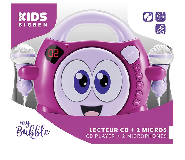"""Karaoke CD player con 2 micrófonos """"My Bubble"""" - Imagen#2tutu"""