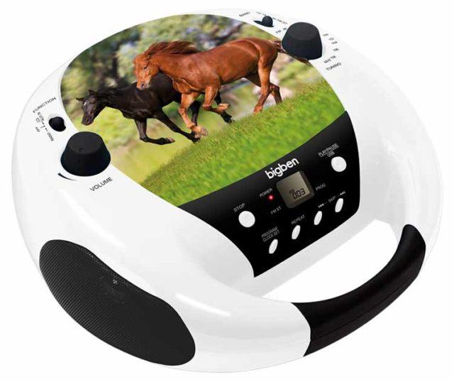 Radio CD Player diseño caballos Bigben - Imagen del envoltorio