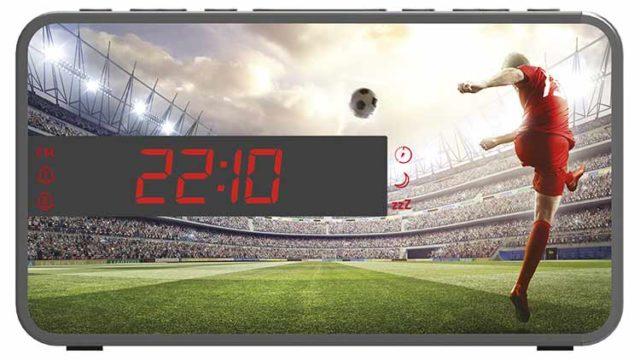 Radio Despertador Bigben diseño deportivo (Fútbol) - Imagen del envoltorio