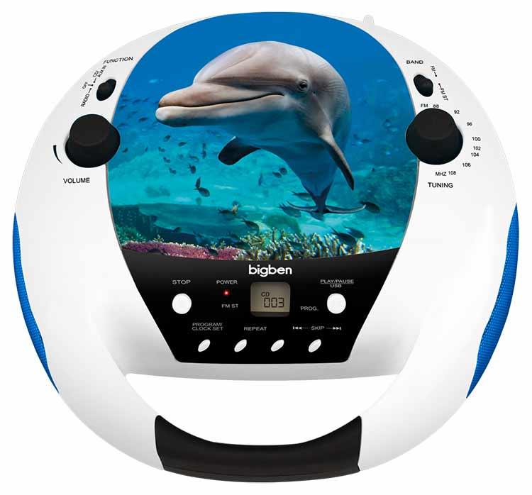 Radio CD player Bigben diseño animales - Imagen