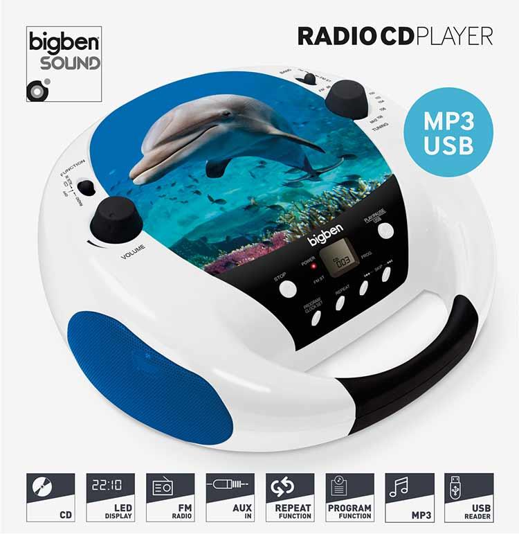 Radio CD player Bigben diseño animales - Imagen#1