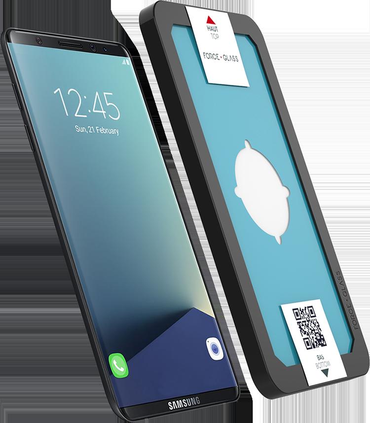 El Cristal templado curvo para tu Samsung Galaxy S8 Force Glass - Imagen#1