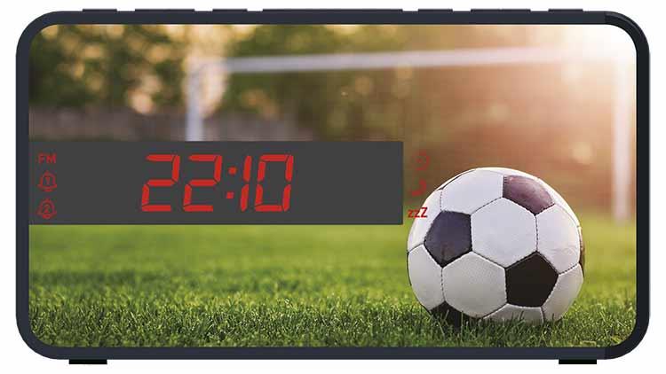 Radio Despertador Bigben diseño deportivo (Fútbol) - Imagen