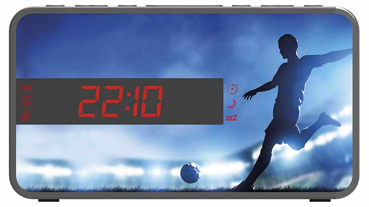 Radio Despertador Bigben diseño deportivo (Fútbol) - Imagen#2tutu