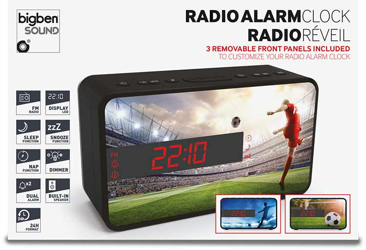 Radio Despertador Bigben diseño deportivo (Fútbol) - Imagen#2tutu#4tutu