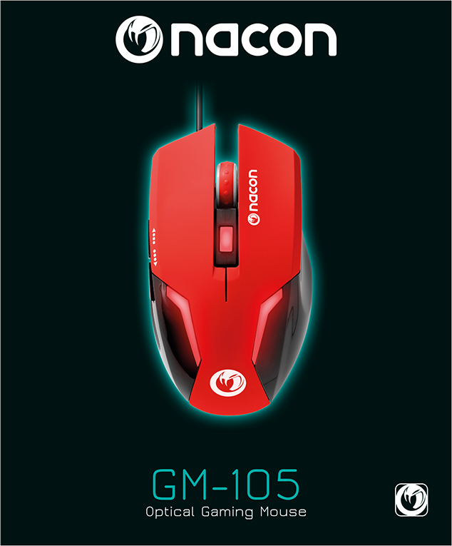 Nacon Optical Mouse (Red) - Imagen#1