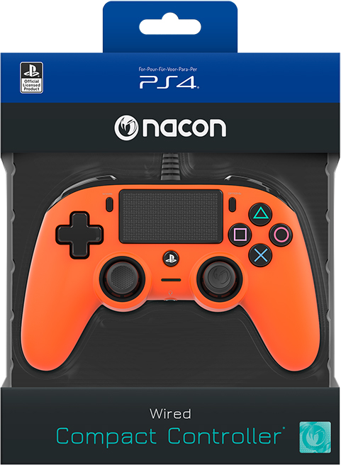 Nacon wired compact PlayStation®4 (PS4TM) Naranja - Imagen#2tutu#4tutu
