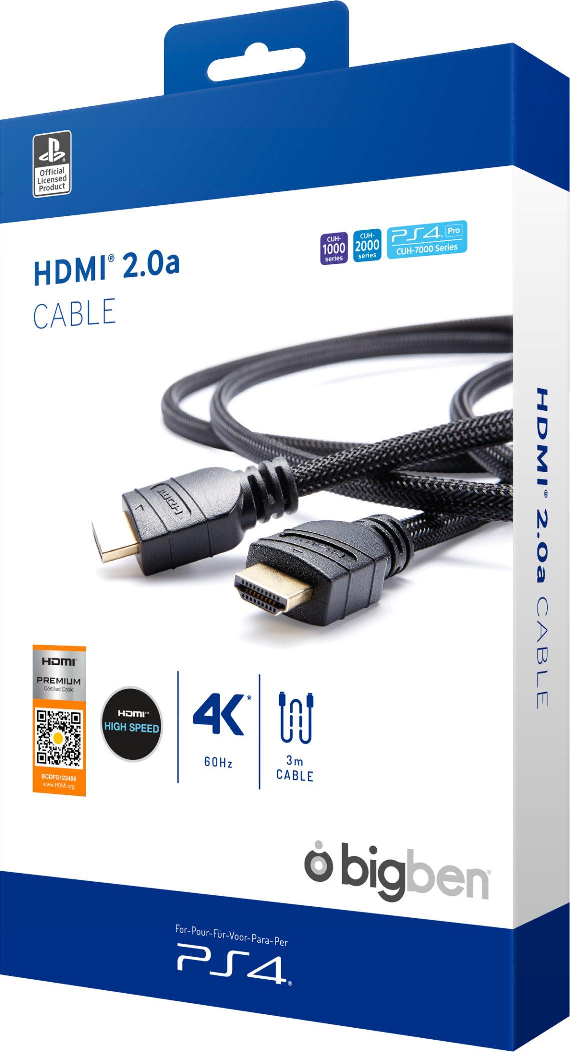 Sony HDMI CABLE HDMI® 2.0 para Playstation 4 Pro Licencia oficial - Imagen#2tutu#4tutu#6tutu