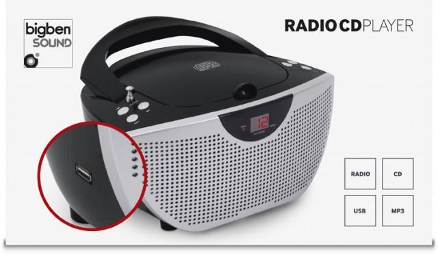 Tragbares CD/Radio CD55USB - schwarz - Packshot