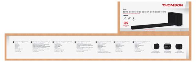 Thomson Soundbar SB250BT inkl. Subwoofer - Packshot