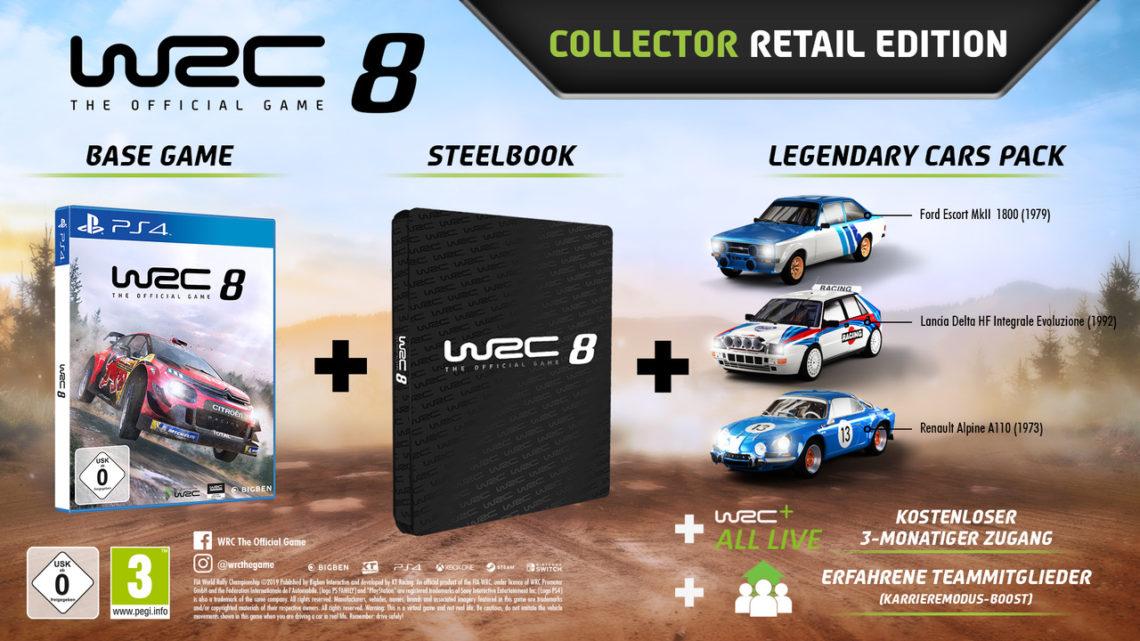 WRC 8: Collector Edition, Vorbestellerboni und Erscheinungsdatum enthüllt