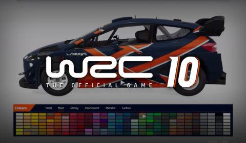 WRC 10: Vorstellung des neuen Lackierungs-Editors
