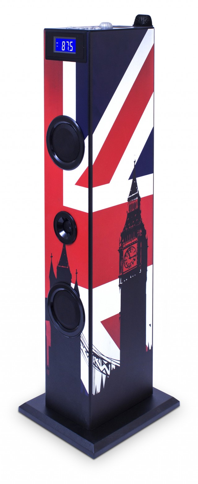 Torre Multimediale KIDS con microfono (motivo UK) - Packshot