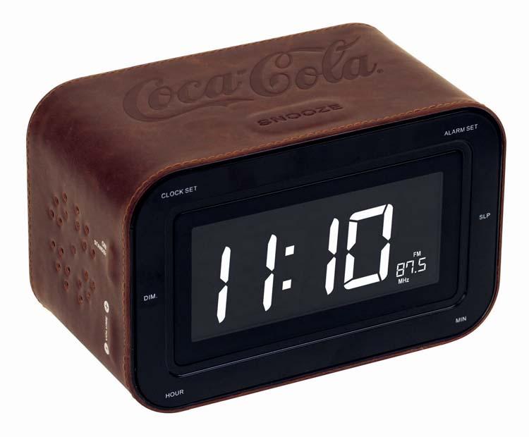 Radiosveglia con doppio allarme COCA-COLA finitura cuoio - Packshot