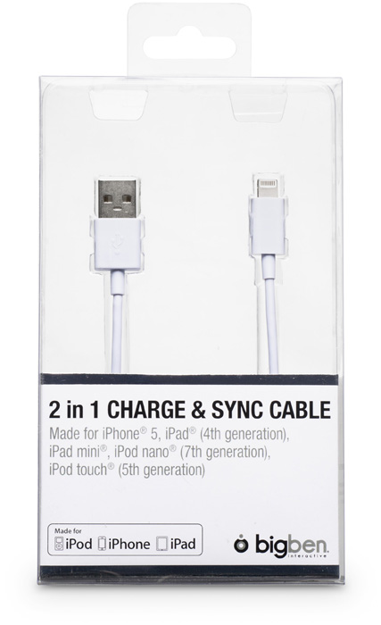 Sync cable and charge for iPhone®5 / iPad® Mini - Immagine