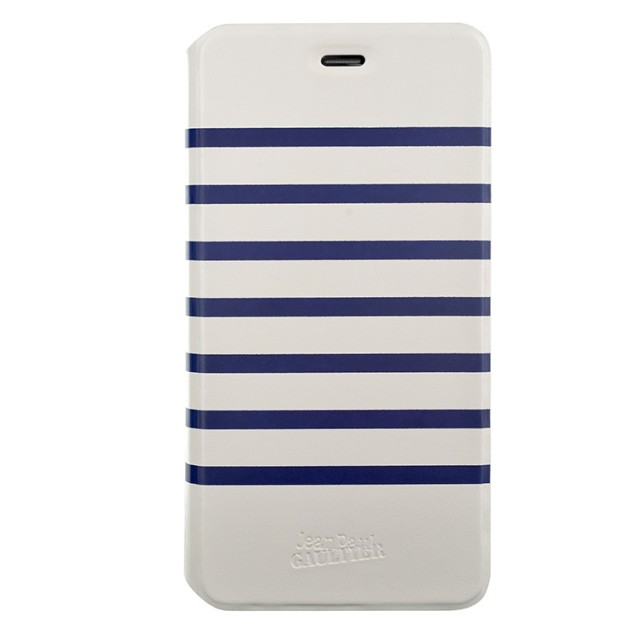 "Jean Paul Gaultier Folio case ""Marinière"" (white & navy) - Packshot"
