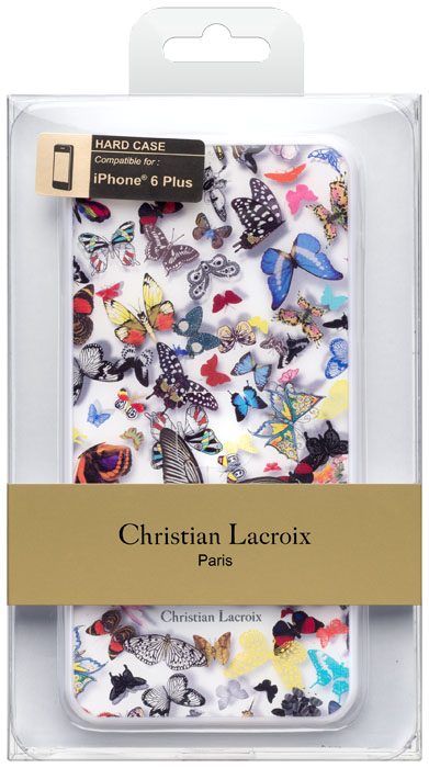 "CHRISTIAN LACROIX Hard case ""Butterfly Parade"" (Opalin) - Immagine"