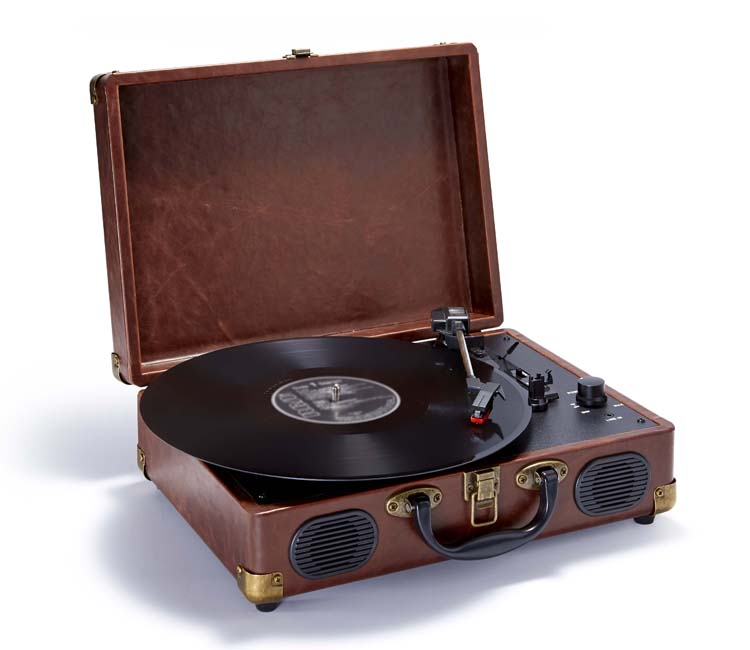 """Suitcase"" Turntable (Leather) - Packshot"