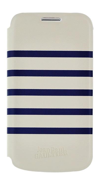 "Jean Paul Gaultier Folio Case ""Marinière"" (Navy and White) - Packshot"