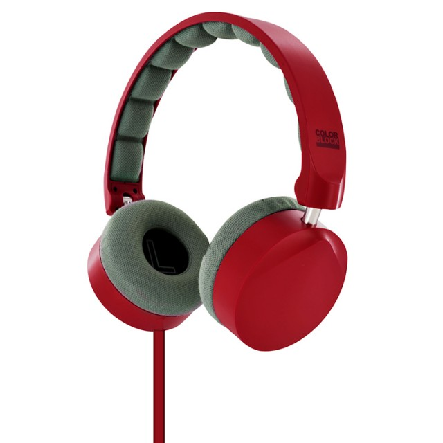 Cuffie Stereo con cavo Colorblock (Berry Red) - Packshot
