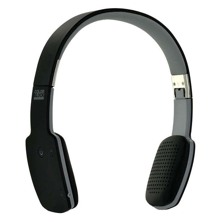 Cuffie ultra piatte Bluetooth® Colorblock (Dark Night) - Immagine