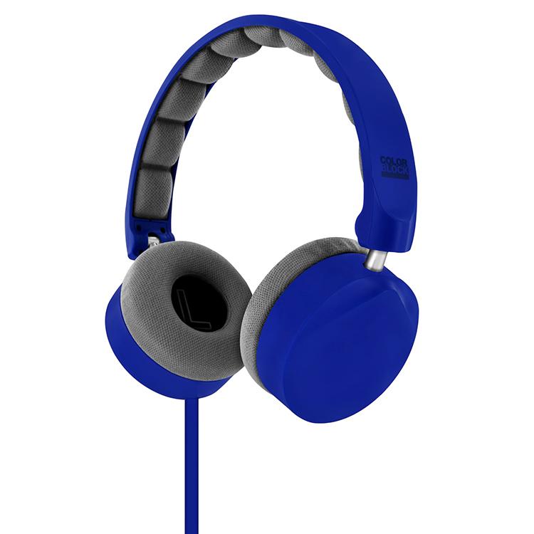 Cuffie Stereo con cavo Colorblock (Royal Blue) - Immagine