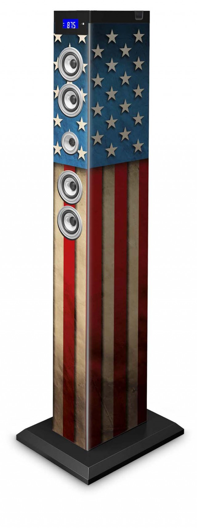 "Multimedia tower ""US flag"" - Packshot"