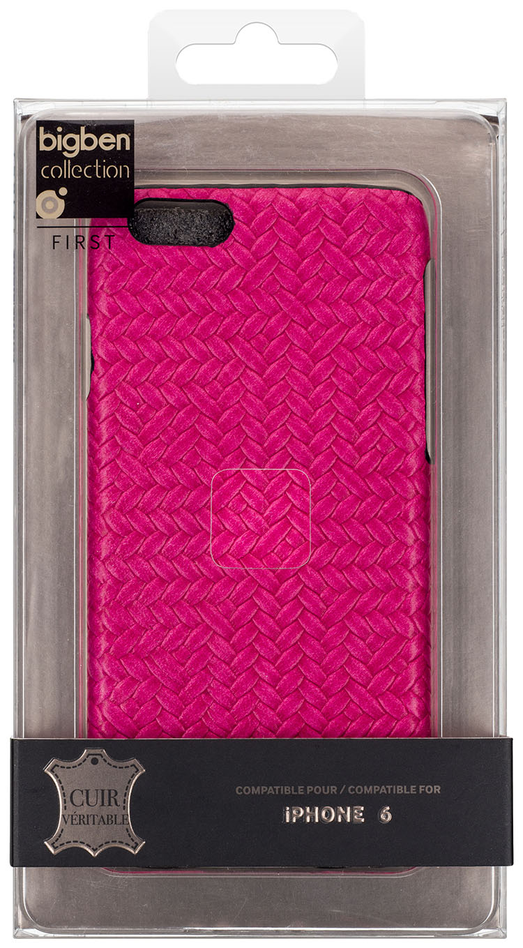Hard Case 'Braided Leather' (Pink) - Immagine