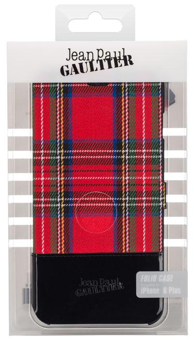 Jean-Paul Gaultier Folio Case Tartan (Red) - Immagine