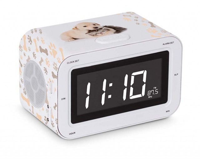 Dual Alarm Clock Puppies and Kitties - Packshot