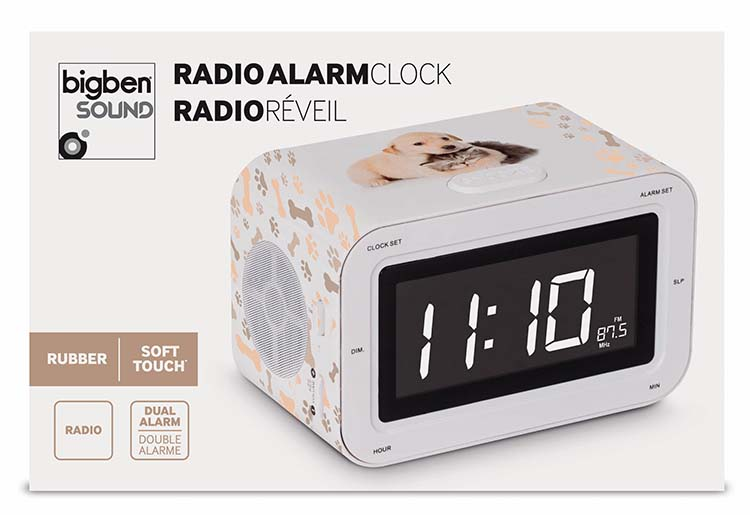 Dual Alarm Clock Puppies and Kitties - Immagine
