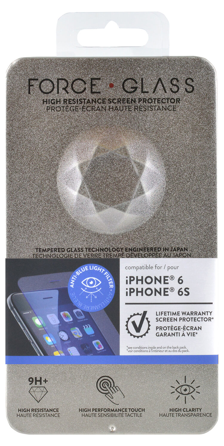 The tempered glass screen protector FORCE GLASS (blue light) - Immagine