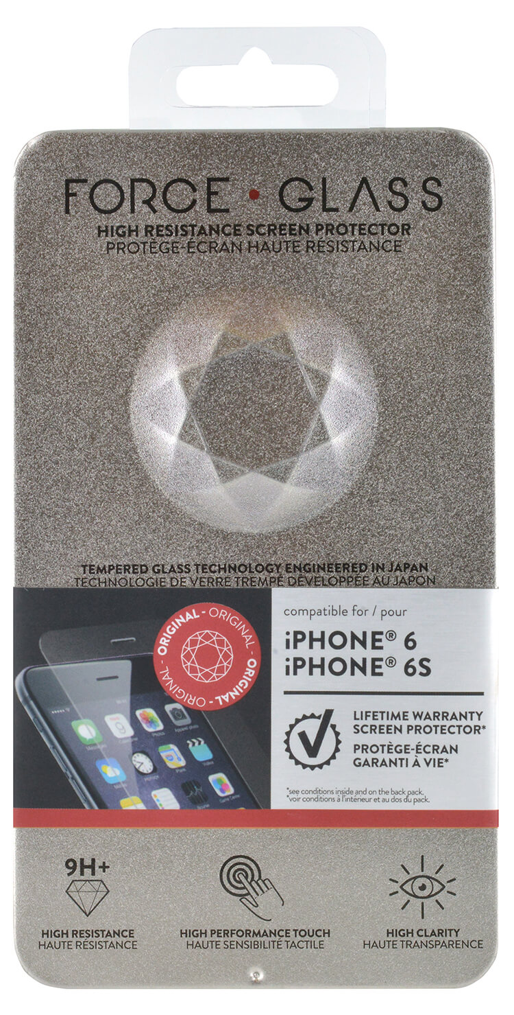 The tempered glass screen protector FORCE GLASS (originale) - Immagine