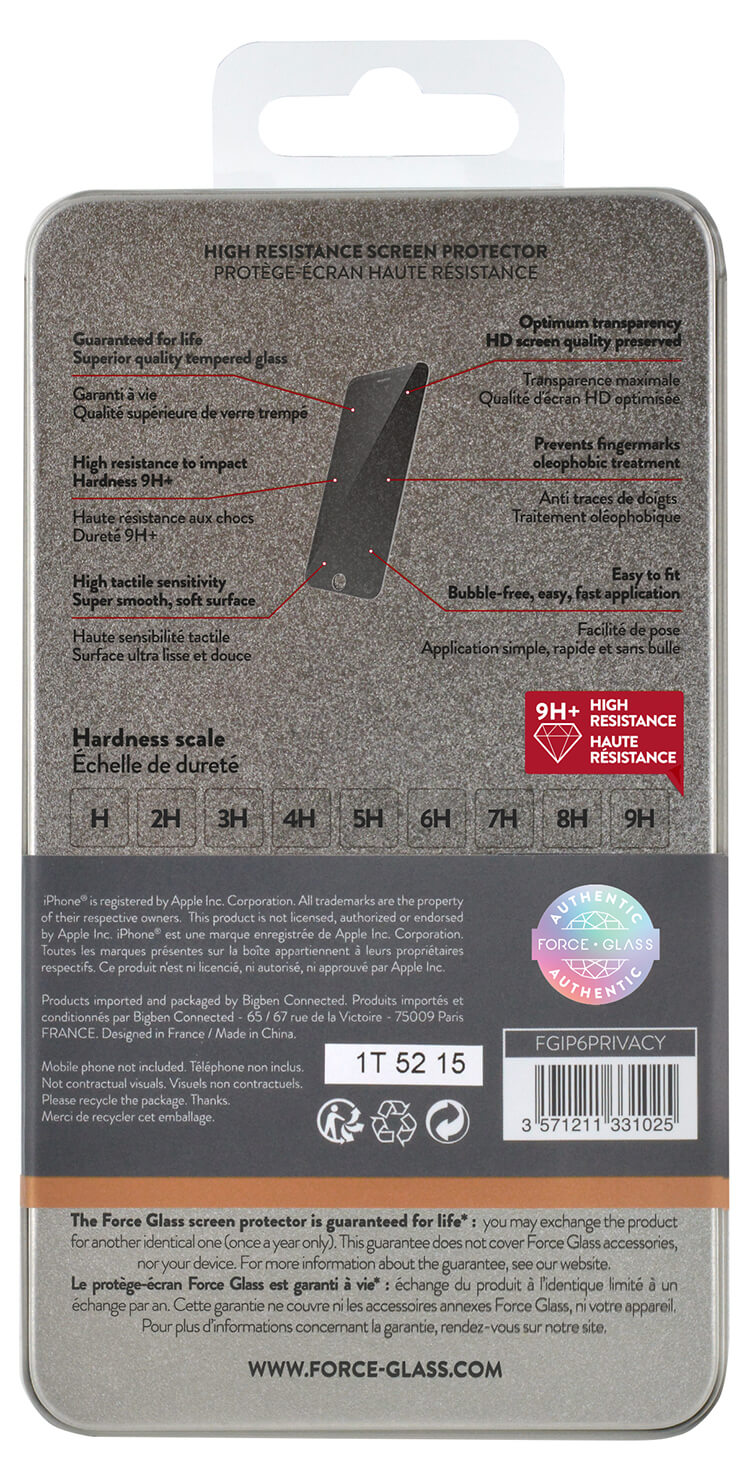 The tempered glass screen protector FORCE GLASS (private) - Immagine #1