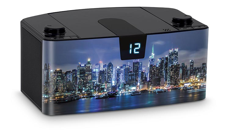 Radio Lettore CD portatile Bluetooth®  NY by night - Immagine