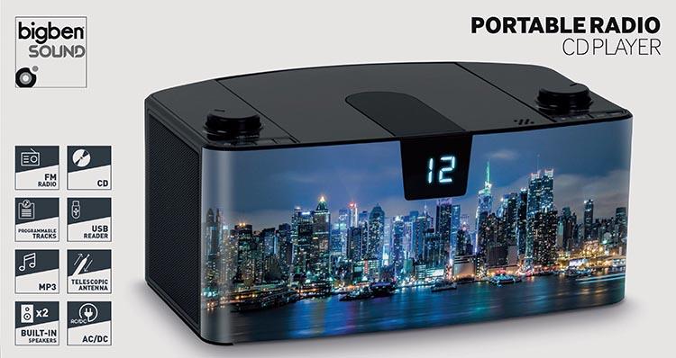 Radio Lettore CD portatile Bluetooth®  NY by night - Immagine #4